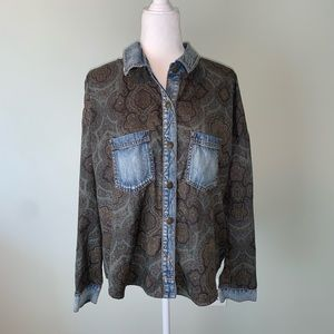 Free People Paisley Western-style shirt #3292